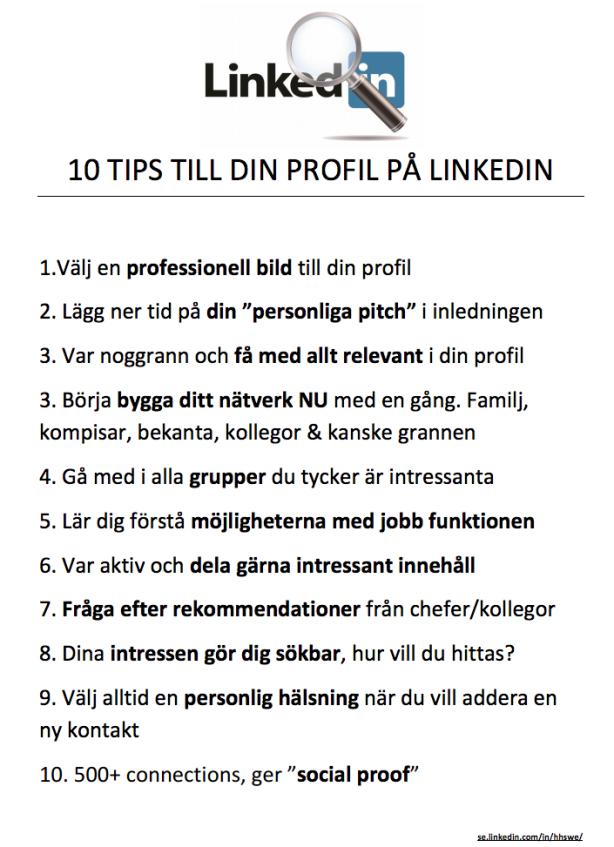 10 tips för Linkedin